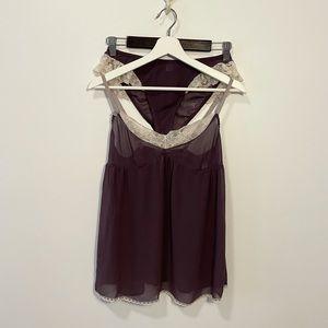 Victoria's Secret Purple Sheer Lingerie